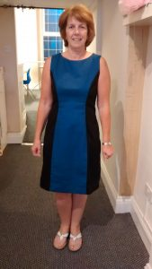 Fab dress in blue and black