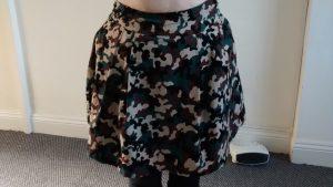 skirt in needlecord