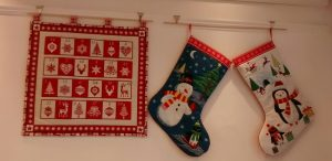 advent calendar and stockings