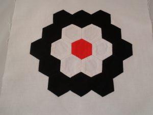 Paper piecing hexagons - sample