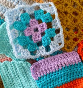 granny square and stitch samples