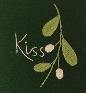 Kiss - Mistletoe Embroidery