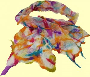 Nuno scarf - bright colours