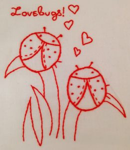 Redwork Lady Birds