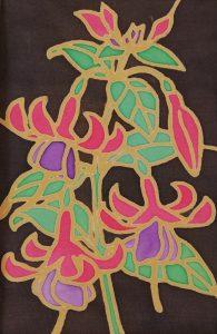 Silk Painted Fuchsia