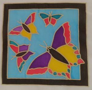 Silk painted Butterflies