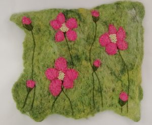 Wet Felting Embellished With Stitching and Beads